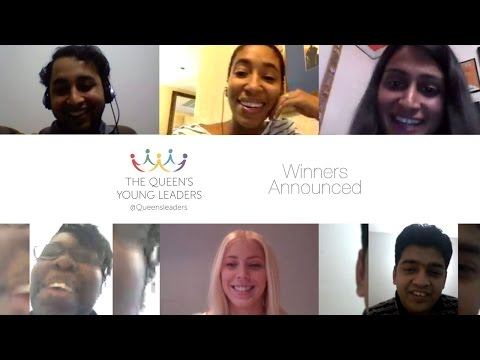 Queen's Young Leaders Award Winners Reactions