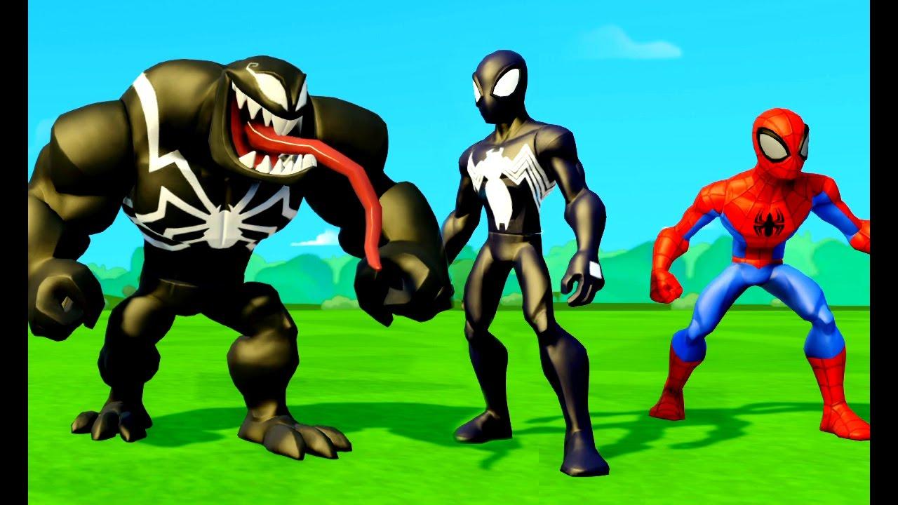 Cartoni Animati Per I Bambini Spider Man Nero Salva Il Uomo Ragno
