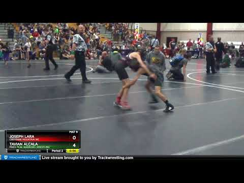 True Beginner Novice 64-66 Tavian Alcala Pikes Peak Warriors Wrestling Vs Joseph Lara Cheyenne Mou