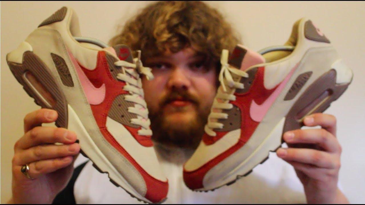 93eecd3a1df294 2004 Nike Air Max 90 x DQM Bacon   2009 Nike Air Max 90 Current Huarache x  DQM Bacon Close Up Look