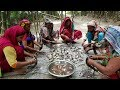 Tilapia Fish Curry For Whole Village Peoples   Tasty Fish Curry Cooking In Bamboo Garden