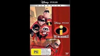 Opening to The Incredibles 2005/2010 Reprint DVD (Australia)