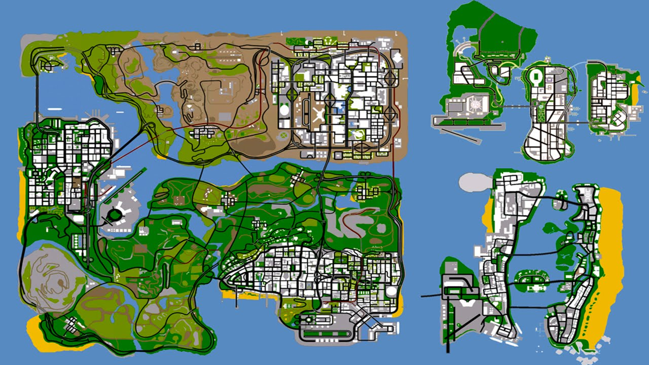 Grand Theft Auto United States Of America LIBERTY CITY VICE - Map of united states of america with cities