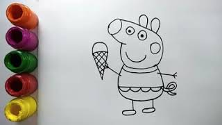 Peppa Pig Drawing & Painting - Peppa Pig Coloring Book & Colors For Kids,Children- Colorsfun