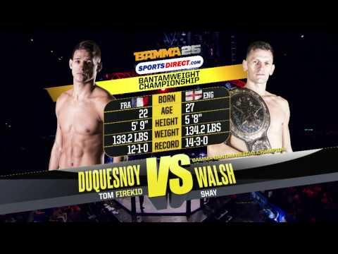 BAMMA 25: Shay Walsh Vs Tom Duquesnoy