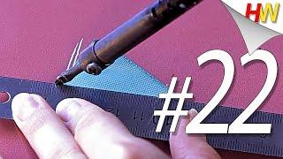 Лепестки при помощи паяльника. Канзаши для начинающих.Урок № 22.