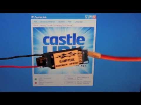 Castle Phoenix Edge 120HV Throttle End Point Calibration sequence by