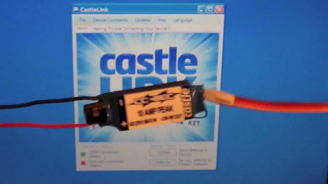 Help! How to Castle Field Link program Castle ESC &BEC - RC