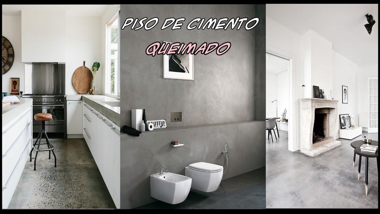 Piso de cimento queimado inspira o youtube - Fotos de recibidores de pisos ...