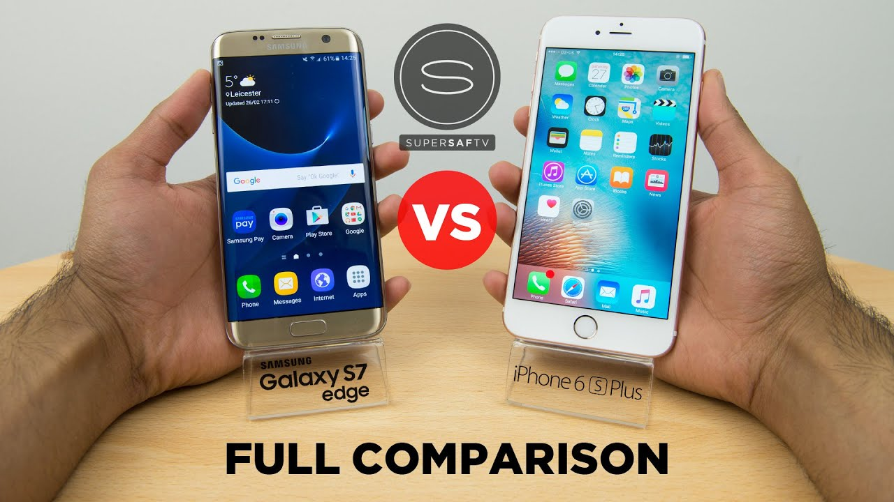 samsung galaxy s7 edge vs iphone 6s plus full comparison. Black Bedroom Furniture Sets. Home Design Ideas