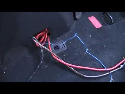 08 mitsubishi subwoofer install *WITH* rockford system - YouTube