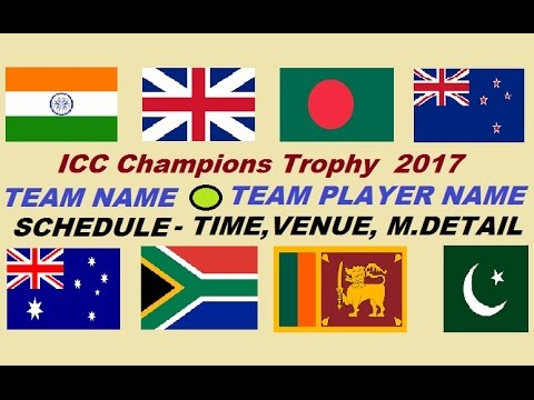 ICC Champions Trophy 2017 Full Details