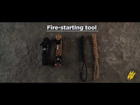 Flaming Lizzard paracord Fire-starting tool - EDCX