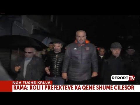 Report TV - Përmbytjet, Rama në mesnatë në Fushë Krujë:Nesër prova e madhe