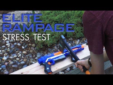 Nerf Elite Rampage Stress Test
