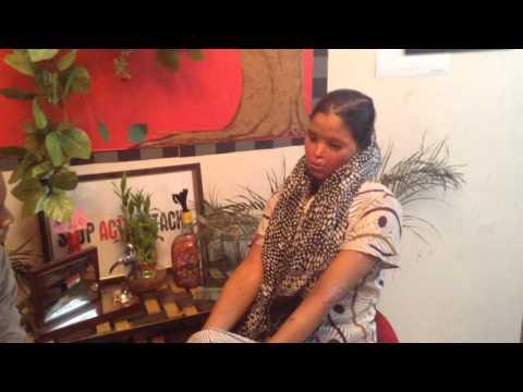 Acid attack fighter Laxmi interviewing Tarana, the recent v