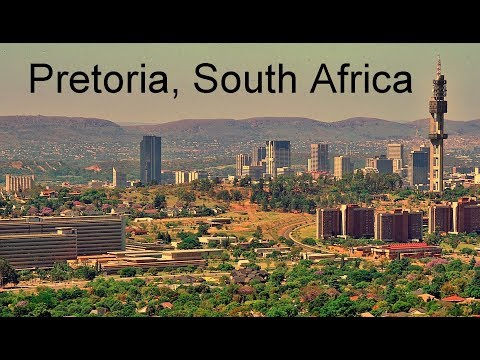 Pretoria, South Africa, aerial view and points of interest