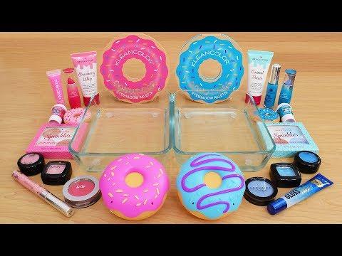 Pink vs Blue - Mixing Makeup Eyeshadow Into Slime Special Series 200 Satisfying Slime Video