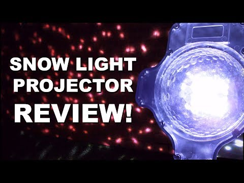 CHRISTMAS SNOW PROJECTOR REVIEW! (Christmas Lights!)