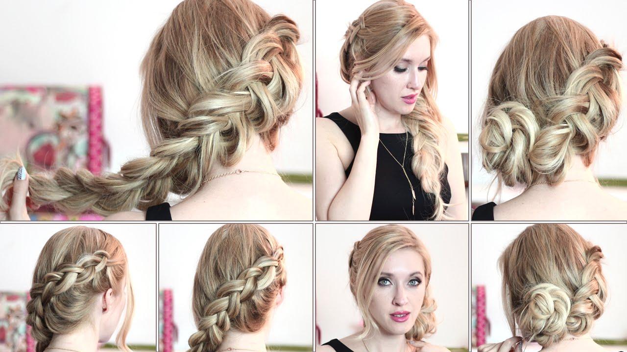 Katniss Everdeen braid hair tutorial  Hunger Games updo ...