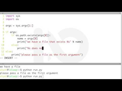 passing arguments to python scripts - YouTube