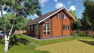 Проект дома из бруса для большой семьи