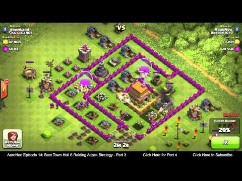 BEST Town Hall Level 6 (TH6) Raiding Attack Strategy (Giants & Healers) Clash of Clans - Part 3