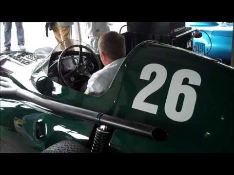 Vanwall GP Race Car Engine Sound; Goodwood Revival 2013