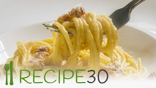 Spaghetti Carbonara the authentic Italian pasta recipe - By recipe30.com