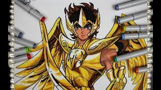 Cómo Dibujar a Aiolos de Sagitario de Caballeros del Zodiaco How To Draw Saint Seiya Speed Drawing