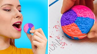 FUN AND GENIUS SCHOOL SUPPLY DIYS || Back To School Pranks And Tricks!
