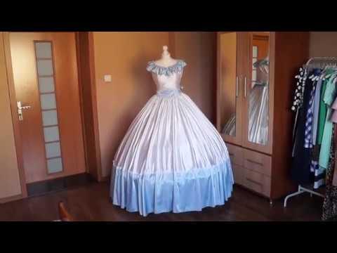 Suknia Balowa Xix Wiek Część 3 Youtube