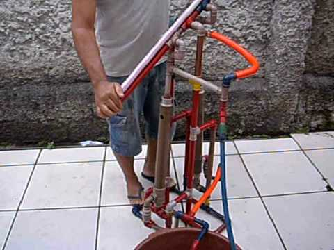 Bomba de gua manual dupla youtube for Bomba de agua manual