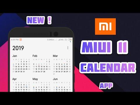 Miui 11 Calendar / New Update Calendar/ By Super And Smart Gamer