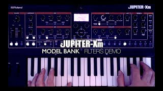 Roland Jupiter Xm - Model Banks / Filters DEMO
