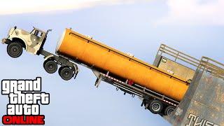 GTA 5 Online Funny Moments - Exploding Cars & EPIC Bike STUNTS In GTA 5