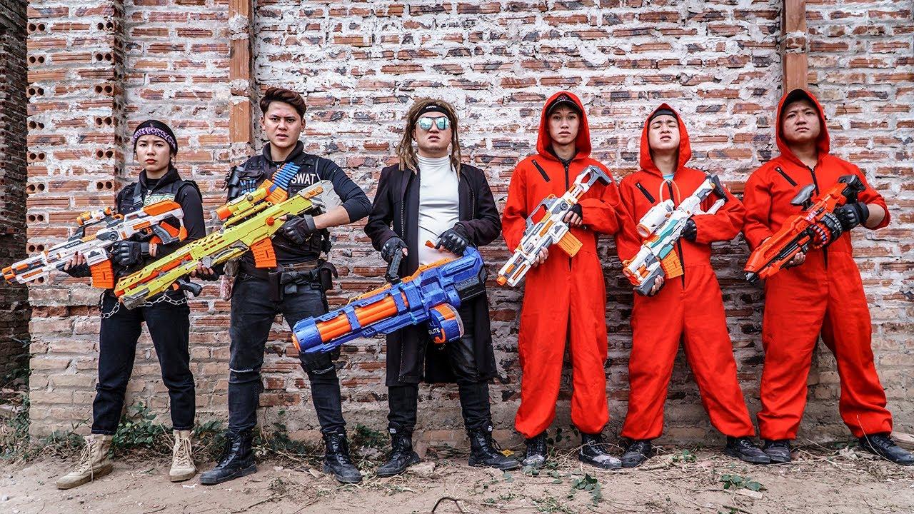 Nerf Guns War : Battle Between S.W.A.T Girl SEAL TEAM And Boss  Hair Blonde Dangerous Criminal Group