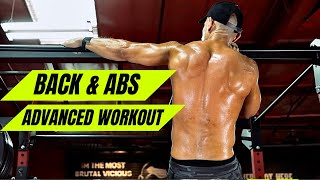 Advanced BACK & ABS workout!