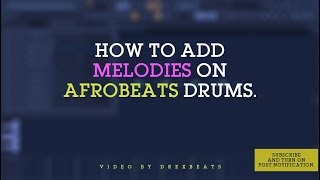 How to make afrobeats? You need drum samples!!! Part 1