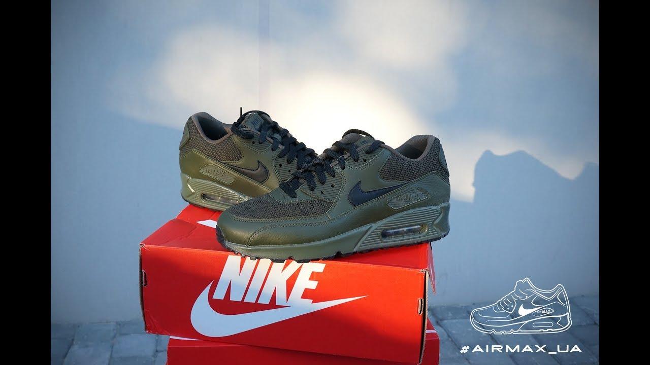 official photos f436b 123d4 Nike Air Max 90 Essential Cargo Khaki Black - YouTube
