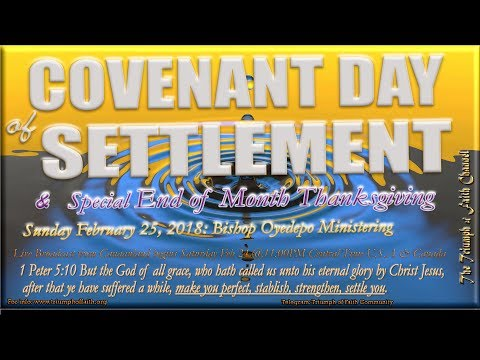 Covenant Day of Settlement & Thanksgiving Service,  February 25, 2018