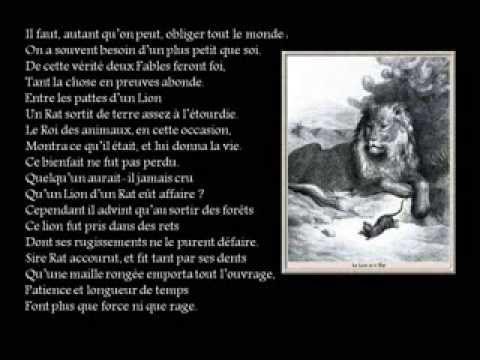 Le Lion Et Le Rat Fable De Jean De La Fontaine Récitée Par Sofya