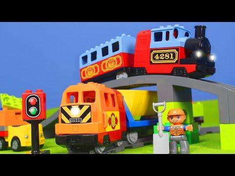 LEGO DUPLO ZUG Kinderfilm: ZÜGE, BAGGER, LASTWAGEN & KRAN für KINDER | Neue ZUG Episode deutsch