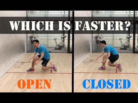 Squash - Open or Closed Movement, Which Is Faster?