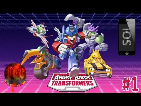 [iOS] Angry Birds Transformers прохождение - Серия 1 [Трансформенные птички!]