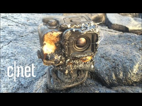 Lava overtakes a GoPro