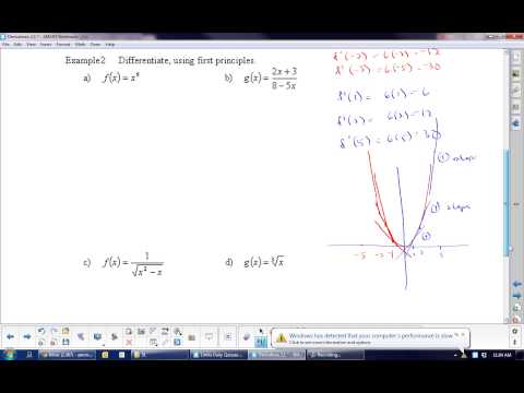 U2L1 Derivatives Defined and Derivatives as Functions Calculus Math 31