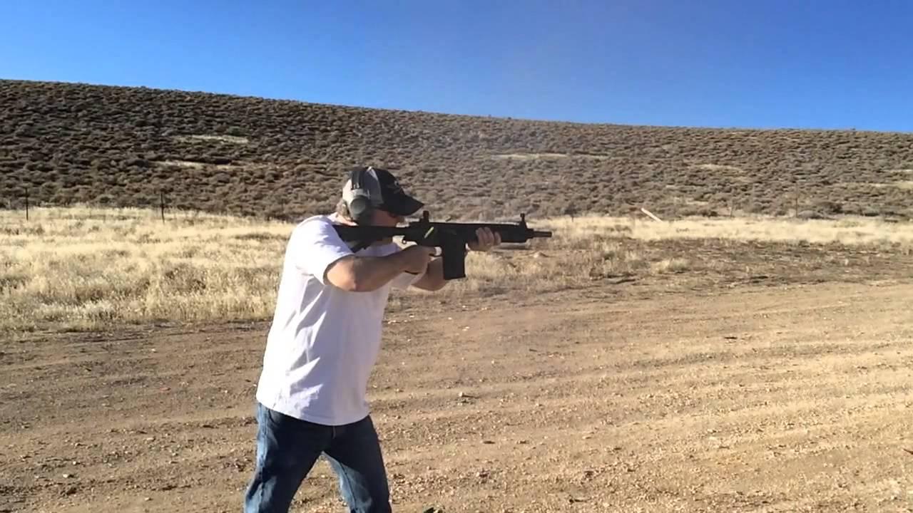 Pops on the  308 Short Barrel AR-10