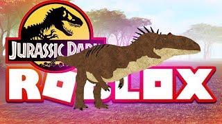 JURASSIC PARK DINOSAURS ROBLOX (Allosaurus) Lets Play Showcase Gaming Video