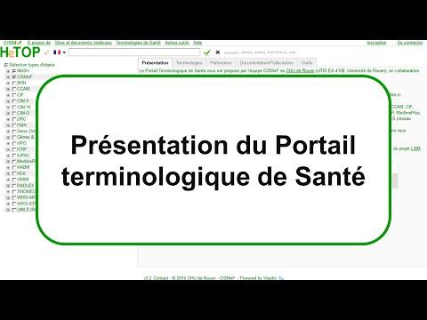 Présentation du Portail Terminologique de Santé /  HeTOP (Health Terminology / Ontology Portal)